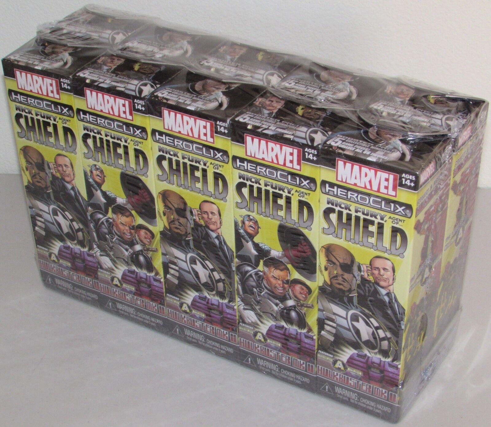 Nick Furia Agente De S.h.i.e.l.d Sellado Booster ladrillo Marvel Heroclix 10 paquetes NUEVO