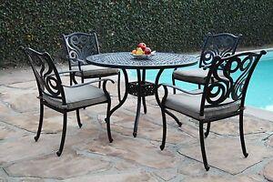 Perris Collection Cast Aluminum Outdoor Patio Furniture 5 Piece Dining Set G 609722579940 Ebay
