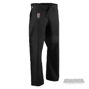 NEW-ProForce-Gladiator-12-oz-Karate-Pant-Traditional-Drawstring-Black-White