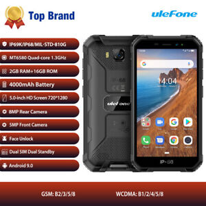 Ulefone Armor X6 3G Waterproof MT6580 Android 9.0 Octa Core Global Smartphone AB
