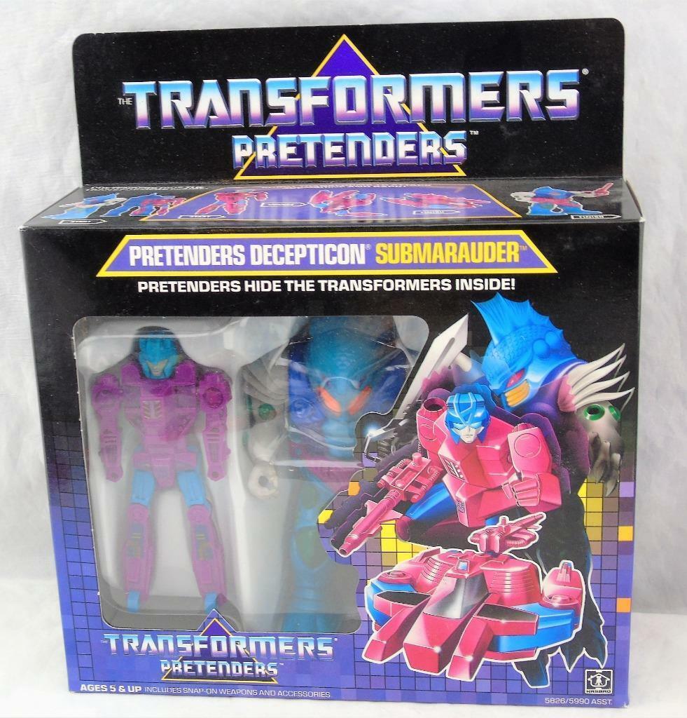 Transformers ORIGINALE G1 1988 pretendente al trono submarauder completo di scatola & Bolla