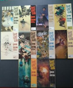 Lone-Wolf-amp-Cub-1-4-5-9-14-19-Lot-of-10-Seinen-Manga-English-Kazuo-Koike