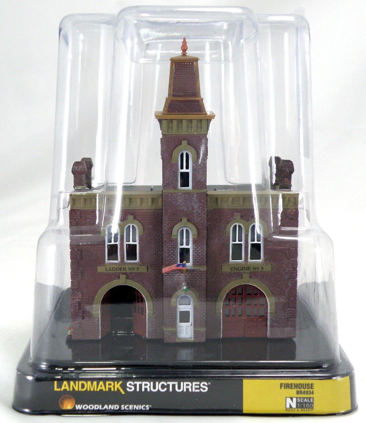 Escala N Firehouse Landmark estructura-Woodland Scenics  br 4934