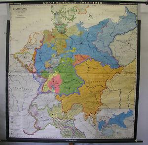Map Of Germany 1815.Schulwandkarte Wall Map School Map Germany 1815 1918 Nat Einigung