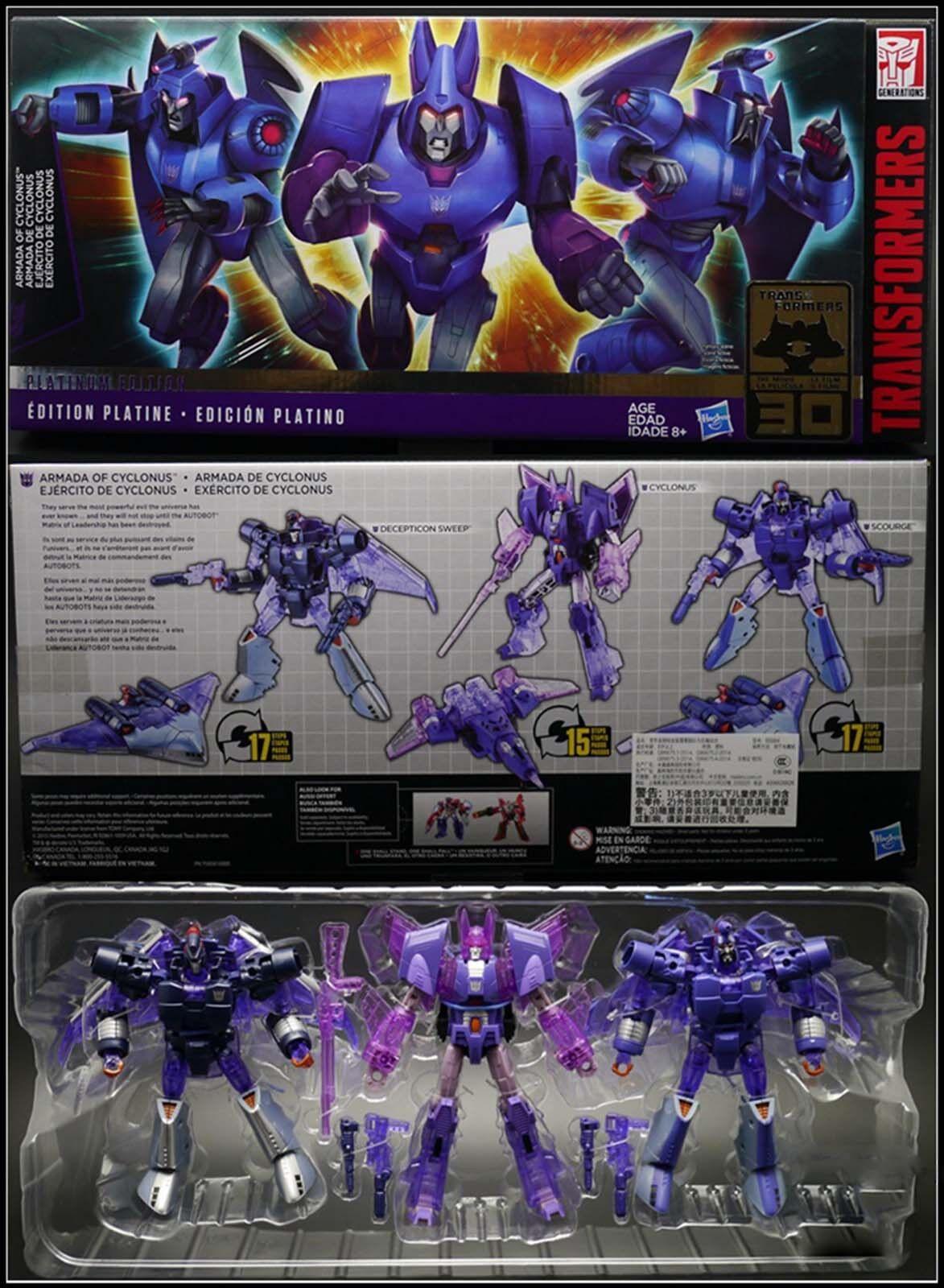 Transformers Platinum Edition ARMADA OF CYCLONUS SCOURGE DECEPTION SWEEP New Hot