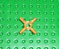 LEGO - TECHNIC - Axle Connector Hub w/ 4 Bars PEARL GOLD x 1(48723) TK1398