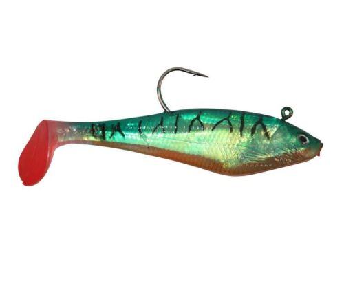 HTO Wreckerz Shads Soft Bait Bass Fishing Lures 3 Per Pack