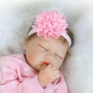 55cm-Full-Body-Silicone-Vinyl-Reborn-Baby-Girl-Dolls-22-034-Lovely-Sleeping-Doll