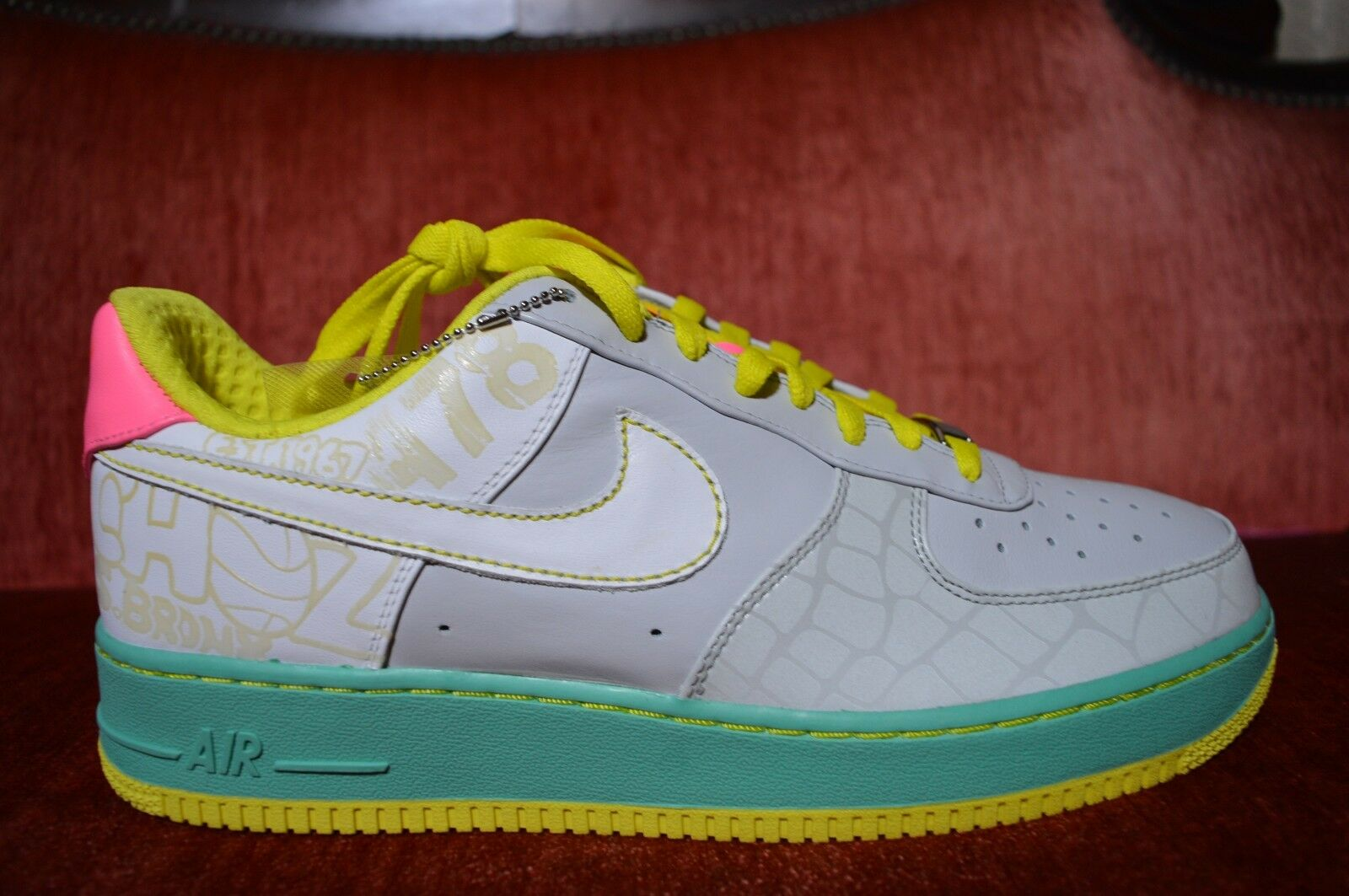 Nike Women's Size 12 Air Force 1 Premium '07 315186 011 Easter Cement White