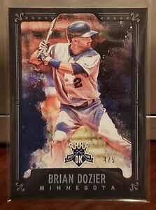 Details About 2017 Diamond Kings Baseball Card Brian Dozier Black 45 Dodgers Twins