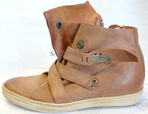 AIRSTEP Italy Stiefelette 36 37 40 41 42 Echt LEDER Boots Rose Antik Stiefel NEU