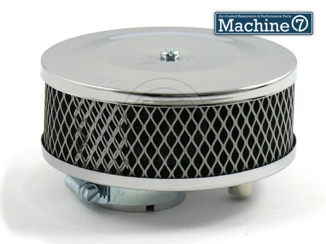 Classic VW Beetle Chrome Pancake Round Foam Air Filter for Solex Carb Bug Camper