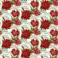 Poinsettia Scripture Bible Verses And Christmas Flower Cotton Fabric By The Yard