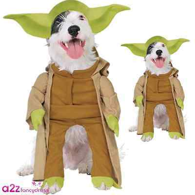 STAR WARS YODA DOG PET COSTUME OFFICIAL HALLOWEEN COSPLAY NOVELTY FUNNY OUTFIT