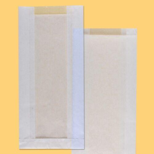 White Kraft Paper Envelope Flat Bottom For Bread 700 17*6*37cm Window 8cm 100pcs