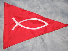 Custom Christian Fish Flag for Safety ATV UTV JEEP dirtbike Dune Whip Pole