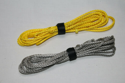 Silver//Yellow 6ft Ultralight Whoopie Slings Amsteel Hammock Suspension USA