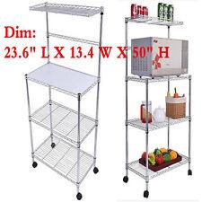 US 3 Tier Kitchen Baker Rack Microwave Oven Stand Storage Cart Workstation  Shelf