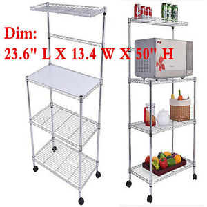 Us 3 Tier Kitchen Baker Rack Microwave Oven Stand Storage