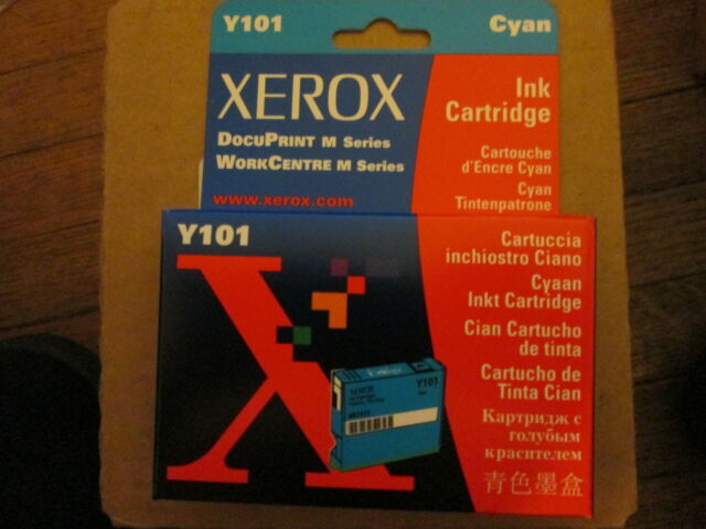 3Pack Genuine Xerox Y101 Cyan Ink Cartridges P/N 8R7972