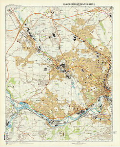 Russian Soviet Military Topographic Maps Dewsbury Batley Mirfield