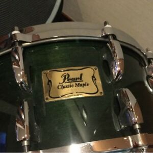 used pearl classic maple snare drum 14 x6 5 made in japan ebay. Black Bedroom Furniture Sets. Home Design Ideas