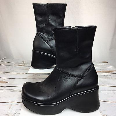 f632d6ffce3 Steve Madden Platform Boot Vintage Ankle Chunky Black 90s Rave Club Kid  Size 8.5