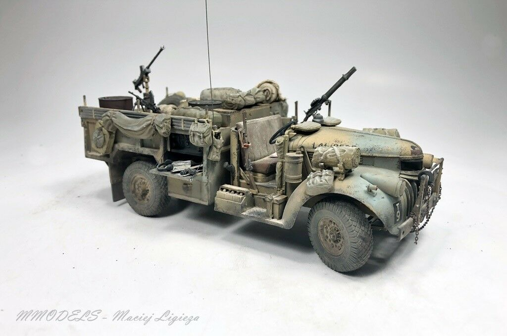 WW2 - SAS Chevrolet 30 CWT - scale 1 35 built and painted
