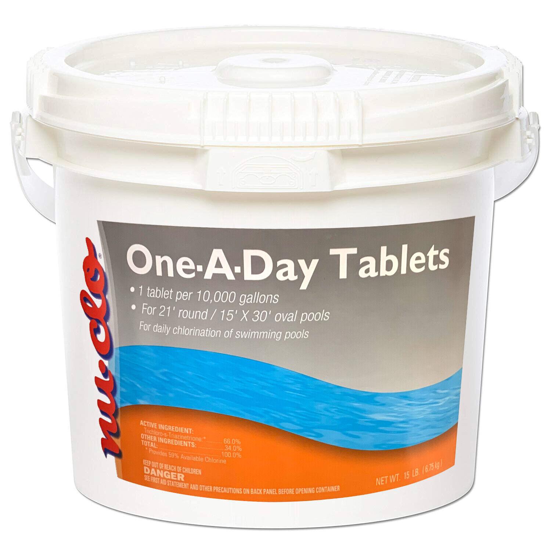 Piscina Cloro Nu-clo 10,000 galones de un día Tablets 15 libras.