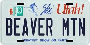 Deer Valley Ski Utah Aluminum License Plate