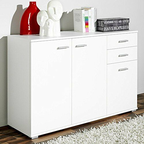 Large Storage Sideboard 2 Drawer 3 Doors Cupboard Cabinet Stand Drinks Wooden Uk
