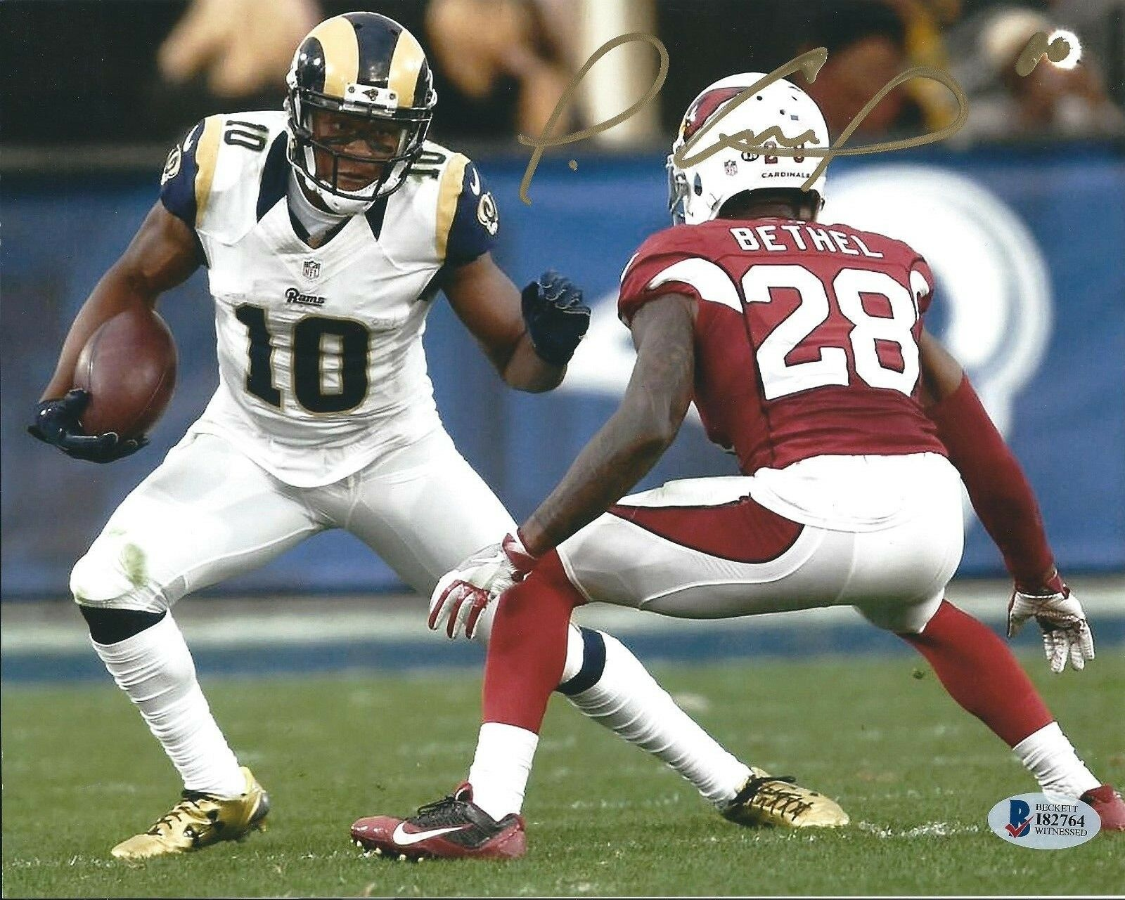Pharoh Cooper Signed Los Angeles Rams Football 8x10 Photo Beckett BAS I82764