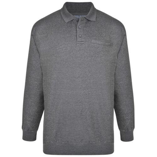 Kam Homme BIG /& TALL Pull à Col Sweat-shirt Sweattop Jumper 2XL-8XL