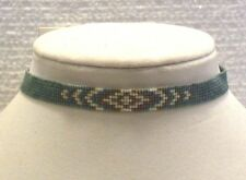 LUCKY BRAND NECKLACE TURQUOISE BEADED CHOKER WITH SLIDE KNOT CLOSURE, NWT