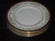 SET of 6 Royal Doulton Bone China H 4991 Belmont Gold Gilt 20cm DESSERT PLATES