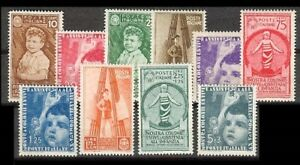 Italy-Sc-367-to-376-MINT-NH-VF