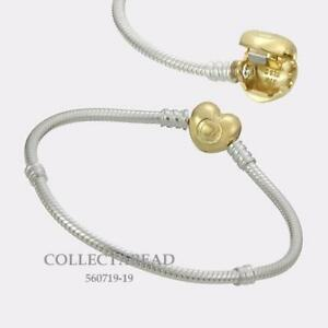 32a4d7bbe5db Details about Authentic Pandora Sterling Silver SHINE™ Moments Heart Lock  Bracelet 560719