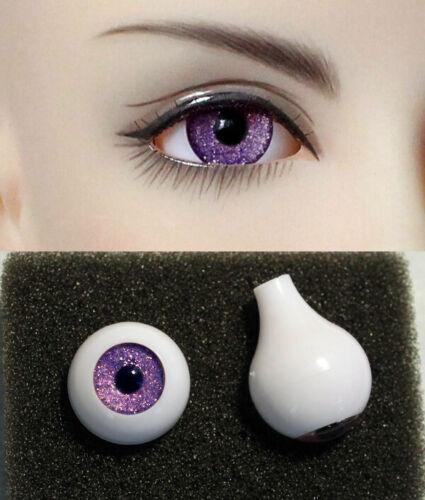 1//3 1//4 1//6 bjd 12mm acrylic doll eyes metallic purple full eyeball dollfie AE61