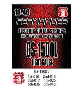 Fernandes GS-1500L le corde per chitarra elettrica light Gauge 3 Set la spedizione gratuita!!!