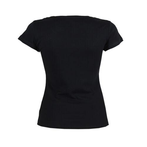 Ex Chain Store Femmes scoop col rond en coton à manches courtes T-Shirt Femme Top