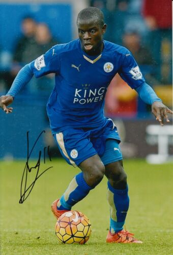 LEICESTER CITY HAND SIGNED N'GOLO KANTE 12X8 PHOTO 2.