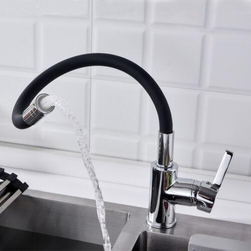 360° Küchenarmatur Wasserhahn Schwarz flexible Spültischarmatur Mischbatterie