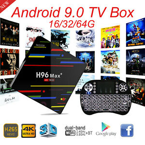 H96MAX 4+64G Android 8.1 Quad Core 4K Smart TV BOX WIFI RK3328 Media Player NEW
