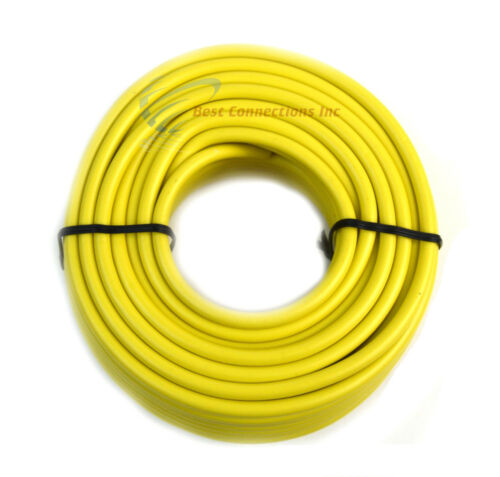 10 GA Gauge 50/' Feet Yellow Audiopipe Car Audio Home Remote Primary Cable Wire
