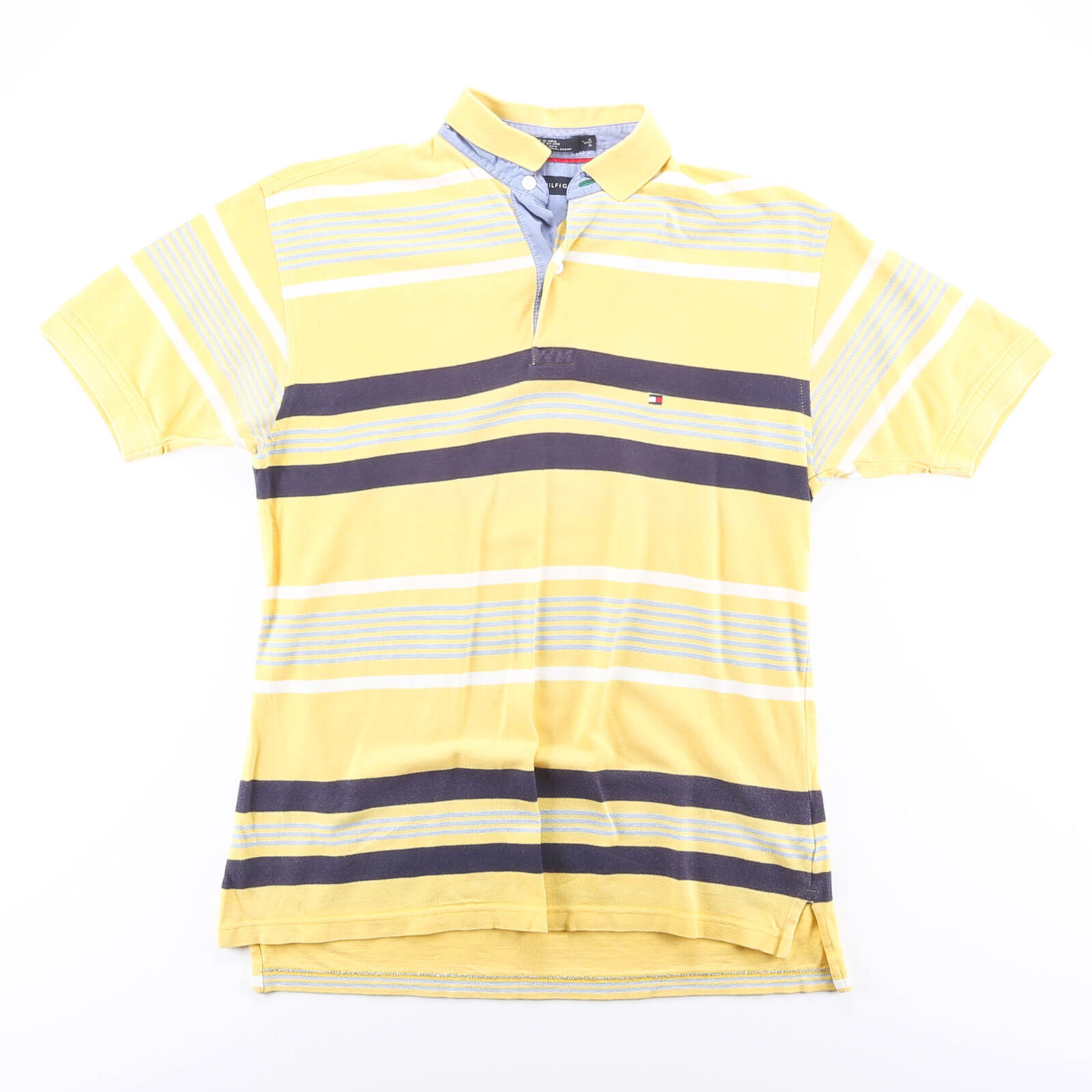 TOMMY HILFIGER Yellow 00s Short Sleeve Polo Shirt S