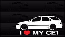 I Heart My CE1 Sticker Love Honda Accord Slammed JDM Japan Wagon Low Car