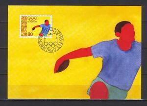 Maxi Card B09 Liechtenstein 1984 Sport Olympic Games Los Angeles