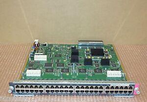 Cisco-WS-X6148-RJ45-48-PORTE-SCHEDA-SWITCH-Ethernet-Veloce-73-9958-02-TESTATO