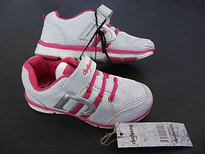 BNWT Little Girls Sz 11 Rivers Doghouse Pink White Blue High Top Joggers RRP $50