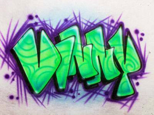 Personalized w//YOUR Name Custom Airbrushed shirt